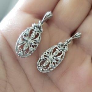 Jewelry - 🎈VINTAGE Earrings & Pendant🎈10K🎈1920's-1930's